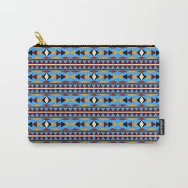 Navajo Blue Pattern Art Carry-All Pouch