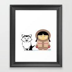 Little Inuit Framed Art Print