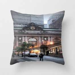 Outside Grand Central Station Throw Pillow