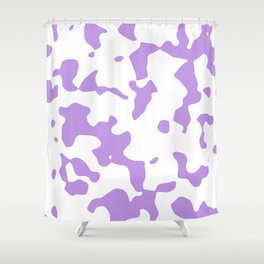 Large Spots - White and Light Violet Shower Curtain