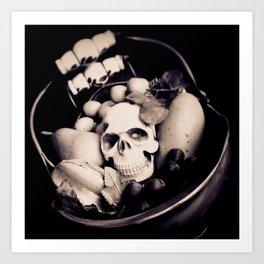 Skull & Fruit Bowl II Art Print