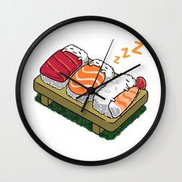 Sushi sleeping Wall Clock