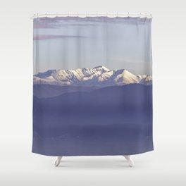 Snowy Italian Apennines mountains Shower Curtain