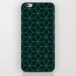 Cube Pattern 01 Green iPhone Skin