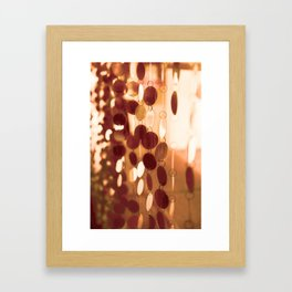 GLAM CIRCLES #Orange #1 Framed Art Print