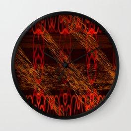 Autumn Tribal II Wall Clock