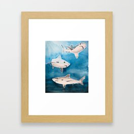 Reef Sharks Framed Art Print