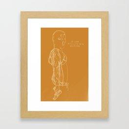 Spring Breakers/Vampire Weekend (Orange) Framed Art Print