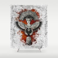 phoenix Shower Curtains featuring Phoenix by Diogo Verissimo