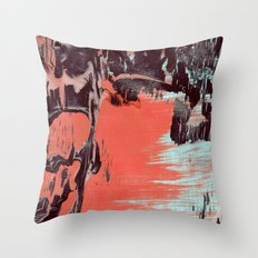 Low Paint Relief Throw Pillow