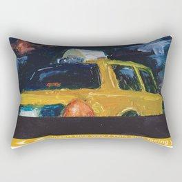 Subway Card NYC Taxi Painting Rectangular Pillow