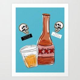 apple juice and hot sauce Art Print