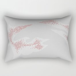 Abstract magnetic lovers Rectangular Pillow