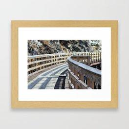Restored Rail Bridge Framed Art Print
