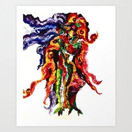 Squidusa Art Print