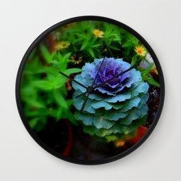 Seaside Cabbage Wall Clock