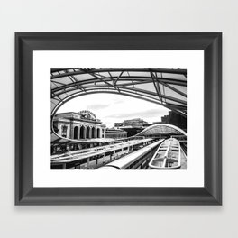 Union Station // Train Travel Downtown Denver Colorado Black and White City Photography Framed Art Print