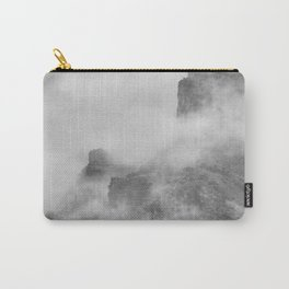 """""""The mountains are calling to me"""". BW. Square Carry-All Pouch"""