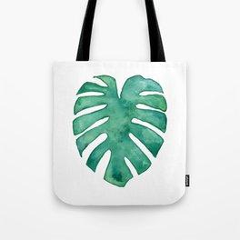 Monstera Leaf Tote Bag