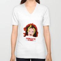 spice girls V-neck T-shirts featuring Spice World - Geri Ginger Spice by Binge Designs Homeware