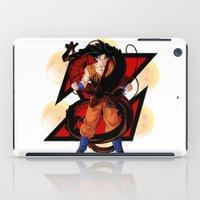 goku iPad Cases featuring DBZ - Goku by Mr. Stonebanks