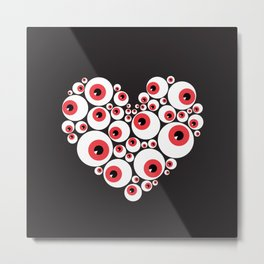 Red Eyeballs Metal Print
