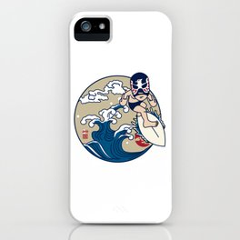 SURF LUCHADOR#2 iPhone Case