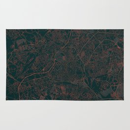 Lille Map Red Rug