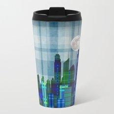 Plaid City Twilight Metal Travel Mug