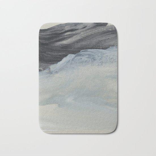 minimal brushstrokes 1 Bath Mat