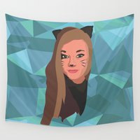 catwoman Wall Tapestries featuring Catwoman  by Jano291