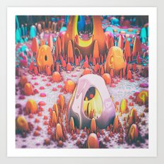 Chromatic Pueblo Art Print