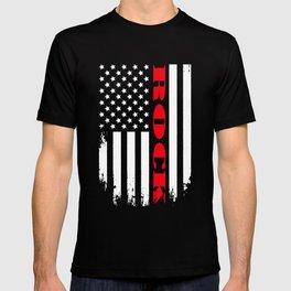 Patriotic Rock Player - Flag T-shirt