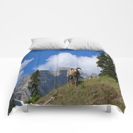 Ram Against Mountain Backdrop Comforters
