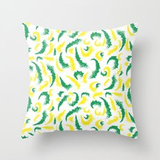 Full Colours green and yellow Summer 2013  Throw Pillow