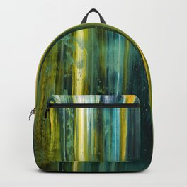 Abstract artwork #18 - The Green Light Of Nature - Abstract painting Backpack