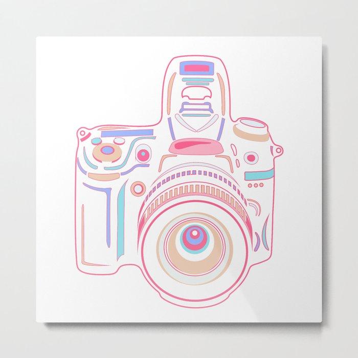 Pastel Cute Camera Metal Print