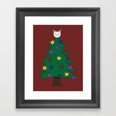 Merry Meow Framed Art Print