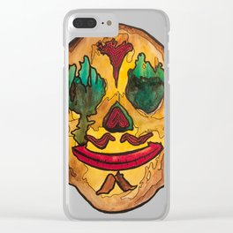 Day of the Dead Skull 1/4 Clear iPhone Case