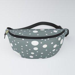 Grey Polka Dots Fanny Pack