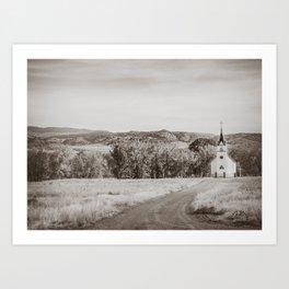 Saint John the Evangelist Church, Boulder Valley, MT Art Print