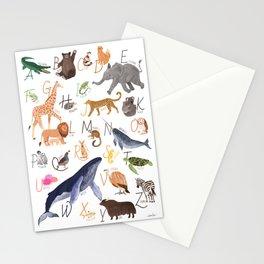 Animal Alphabet Stationery Cards