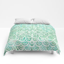 Watercolor Mermaid Comforters