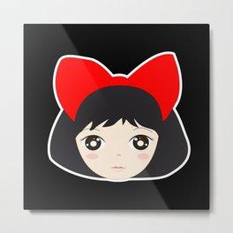 Kiki's Red Bow Metal Print