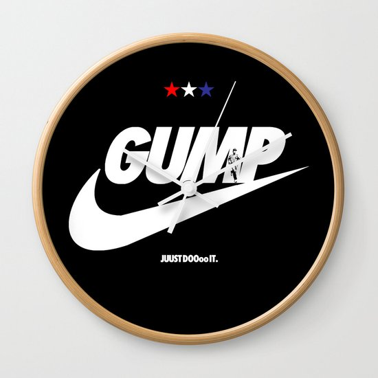 Gump- JustDoIt Wall Clock