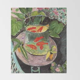Henri Matisse Goldfish 1911, Goldfishes Artwork, Men, Women, Youth Throw Blanket