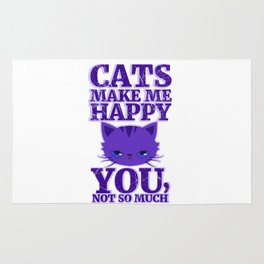 Cats Make Me Happy Rug