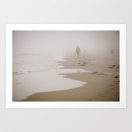 Fog on the Water. Art Print