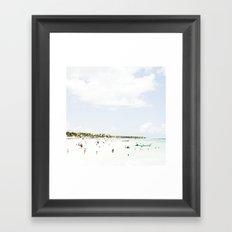 White Waves Beach Framed Art Print