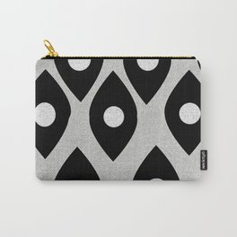 Black and White Pattern Fish Eye Design Carry-All Pouch
